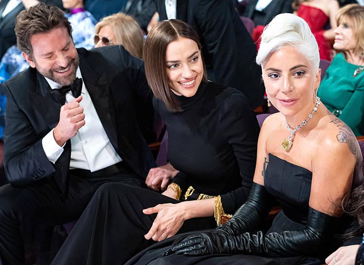 Брэдли Купер, Ирина Шейк и Леди Гага — где любовь